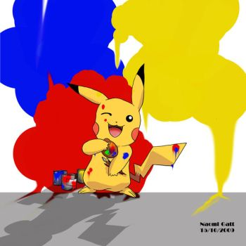 Pikachu: Pikaa Paint by Naomi89