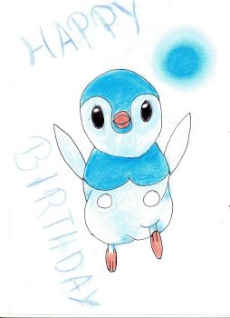 Piplup in water by Mikarda
