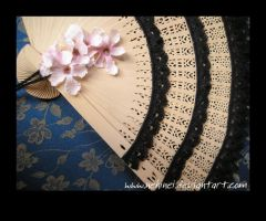 Fan With Black Lace 2 by nehinei