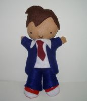David Tennant Plushie No. 2 by kiddomerriweather