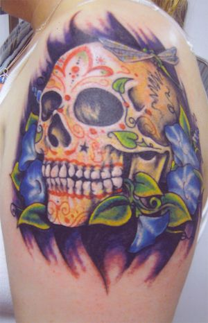 Amazing Art of Tattoo: Skull Tattoo Designs Especially Sugar Skull Tattoo