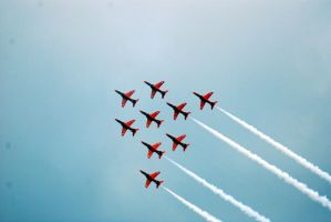 Red Arrows Formation2 by Mark-Allison