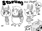 Villager doodles by berserkedpunk