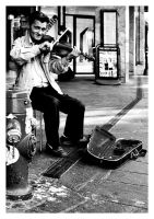 Street violin by Ouylle