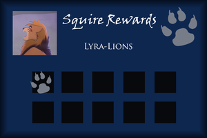 Lyra-Lions Squire Rewards Card by SapphireSquire
