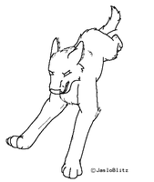 Wolf Lineart by jaslo