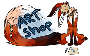 Art Shop Banner by Foxface-x3