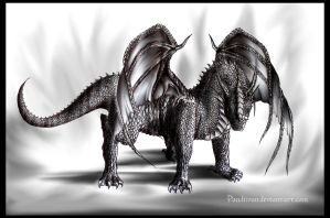 Dark Dragon. (Male) by PandiiVan