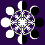 Chaos Moon Octagram Alternate by Aquatic-Candle