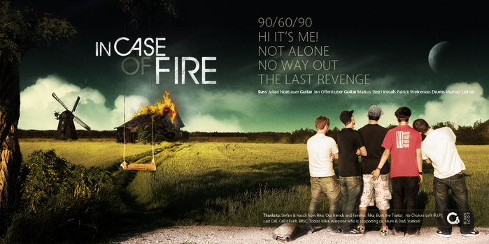 In Case Of Fire CD Cover by emotioncore