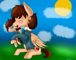 Carl plushie snuggles by warriorcats4ever12
