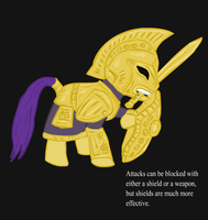Ponified Skyrim loading screen: Dwarven Armor Pony by glue123