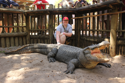 Me with an Alligator by sonichannah