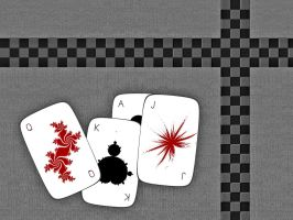 Fractal Gaming Cards by CoffeeToffeeSquirrel
