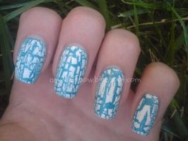 White Crackle Nail Polish by AnyRainbow