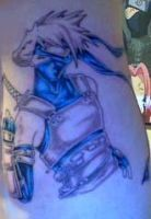 My Tattoo of Kakashi by ImMzUndastood