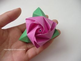 Origami Magic Rose Cube by OrigamiPieces