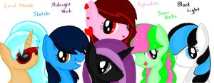 My Mane 6! by sketchypony123