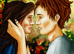 Edward Bella Almost Kiss by CindyRex