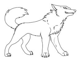 Wolf Lineart by Roneri