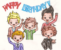 One Direction Birthday by DOLLce13