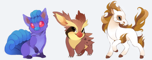 Pokemon fusions by Kiwiggle