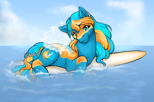 Cerulean Sunspalsh by ClemiKinkajou