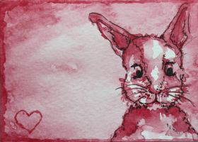 Love bunny ACEO by dyingrose24