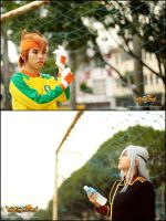 Inazuma Eleven Cosplay - Endou and Sakuma by darknaito