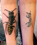 Wasp tattoo cover up by AtomiccircuS