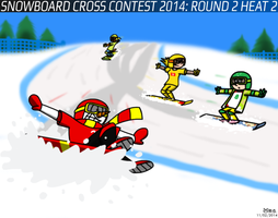 Snowboard Cross Contest 2014: Round 2 Heat 2 by BluebottleFlyer