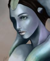 Twi'lek woman by gMaleen