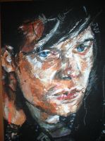 Oil pastel man by Courtney19