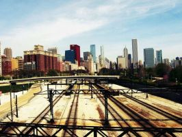 Chicago Rails by Silent-Sile