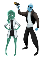 Osmosis Jones and friend by AtomicRay
