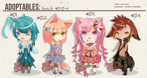 ADOPTS:KEMONOMIMI BATCH [OPEN] NUMBER 1 LEFT by Clouver