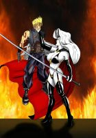 Sephiroth and Lady Death - Revenge by odinforce23