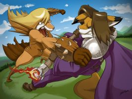 Lance vs Hekate by SupaCrikeyDave
