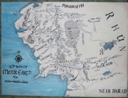 Map of Middle Earth by LemonScientist