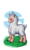 .::Albino Llama::. by painter-des