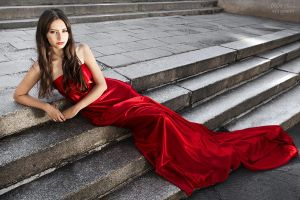 Lady in red I by stalae