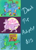 Drink Pups Adoptables~ by Wolf-mutt