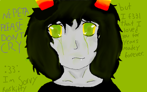 NEPETA PLEASE DONT CRY. by Dragoonroot