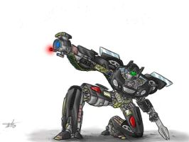 Strate-Shot the autobot by munchkin-t