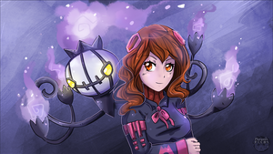 Katharsis and Chandelure by Pharaonenfuchs