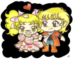 Candy Candy fanart - Chibi Albert and Candy by beatrice1979a