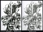 Liono inks by Misfit over Pencils by Adrianohq by Bob-Misfit-Modelski
