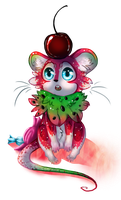 Watermelon Candy Mouse by Gelidwolf