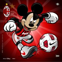 Milan Soccer MIckey by jpnunezdesigns