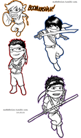 TMNT Chibi by Mababwion1